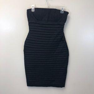 Calvin Klein Strapless Pleated Bodycon Mini Dress